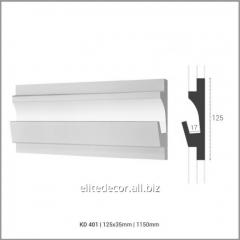 Карниз KD401 для скрытого LED освещения. Материал:
