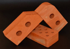 Ceramic brick of moist pressing of M-100, M-75