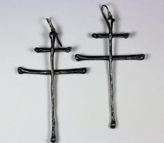 """Дизайнерские серьги """"Крест"""" от"""