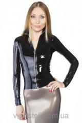 Курточка из латекса на разъемной молнии latex
