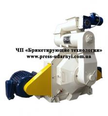 Гранулятор GRP-1.5 для производства топливных пеллет из соломы