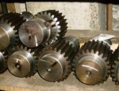The shaft gear wheel is cylindrical