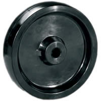 Wheels without bracket with plain bearing