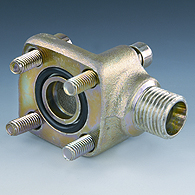 Flange for machines and mechanisms