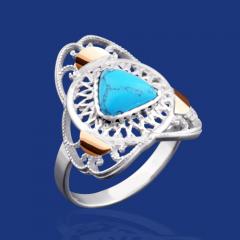 """Greta"" silver ring"