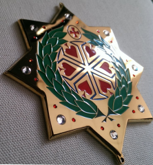 The medal is eight-pointed, church.