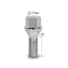 Bolt cone 12x1,25x24 L51 zinc, key 17 (072093)