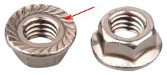 Nut with skirt 12x1,25 L34 key 19 (411444)