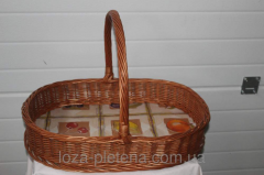 Tray with handle-bars of color with handle