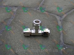 Т-образный фитинг для трубы никелированная медь