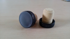 Коньячная корковая пробка с пластиковым колпачком, 28*8*20 мм, упаковка 1000 штук