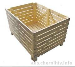 Containers vegetable wooden