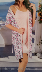 Female set dressing gown and nightgown Code: