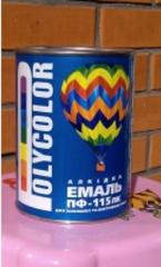 POLYCOLOR PF-115 alkyd enamel of black 0,2 kg