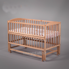 Bed children's on hinges with a folding