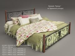 Кровать кованая Крокус на деревянных ногах