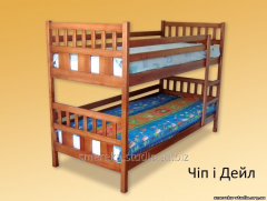 Bunk bed Chip and Dale (beech)