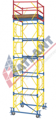 Mobile collapsible tower 2,0 X 2,0 m (4+1)