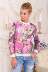 Розы Dior кофта Свитшот