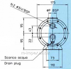 Water Emmegi oil cooler MGW130 series