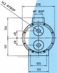 Water Emmegi oil cooler MGW168 series