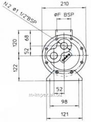 Water oil cooler Emmegi MGB168 series
