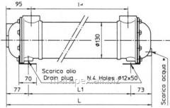 Water oil cooler Emmegi MG130 series