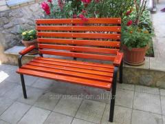 He bench is garden, park