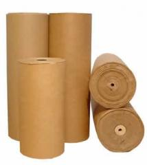 Corrugated cardboard rolled from the producer