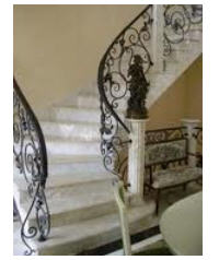 Spiral staircases with granite steps