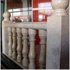 Balustrade from granite under the order