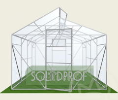 Duo-pitch greenhouse of Mitlayder of 3 Solidprof