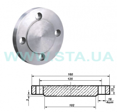 Flange of the steel deaf of Du50mm Ru10