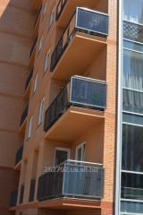Protections of balconies, ladders, entrance groups metal