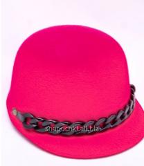 Hat felt 1-80, color scarle
