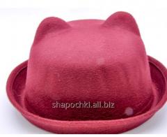 Hat female felt 1-82, color clare