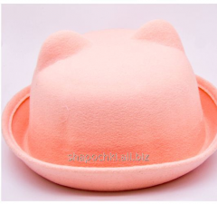 Hat female felt 1-83, color gentle and cream