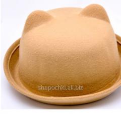 Hat felt 1-84, color sand