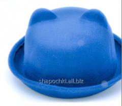 Hat female felt 54,58, color blue