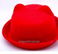 Hat felt 1-85, color red