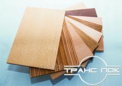 Shponirovanny plates: plywood, MDF, chipboard,