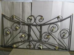 Заборы и оградки металлические стальные
