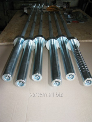 Гриф для штанги 2 м или 2,2 м из прочной стали  Изготовлен из прочной стали 40Х или 45.