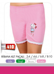 Пижама шорты для девочек 410, размеры