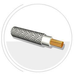 Провода гибкие с медной жилой, с кремнийорганической изоляцией нераспространяющей горение, в оплетке, пропитанной термостойким лаком или эмалью марки ПГРО
