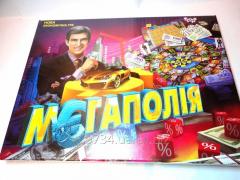 Board game of Megapoliya. Economic strategy