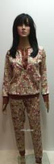 Трикотажный женский костюм с брюками 46