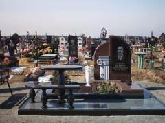 Granite fencings, gravestone monuments, ritual