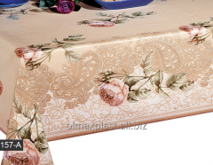 Oilcloth on PVC to Roza's basis on a kitchen