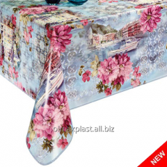 Oilcloth on a table the City of happiness, the